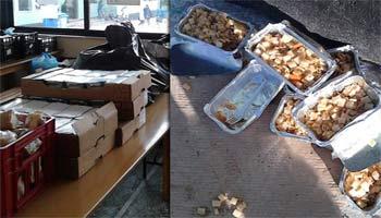 Οι λαθρομετανάστες πετάνε τα δωρεάν γεύματα στα σκουπίδια